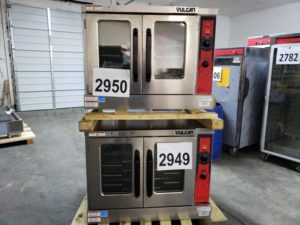 2949-2950 Vulcan VC55GD double stack convection ovens (2)