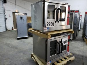 2949-2950 Vulcan VC55GD double stack convection ovens (4)