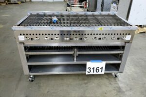 3161 VCCB60-2-SB charbroiler with wood assist cabinet (2)
