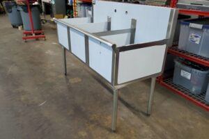 3 bay stainless commercial sink (5)