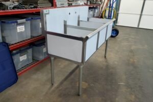 3 bay stainless commercial sink (6)
