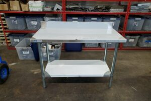 48 stainless steel prep table (2)