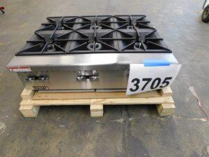 3705.02 Vulcan VCRH36 6-burner hot plate (2)